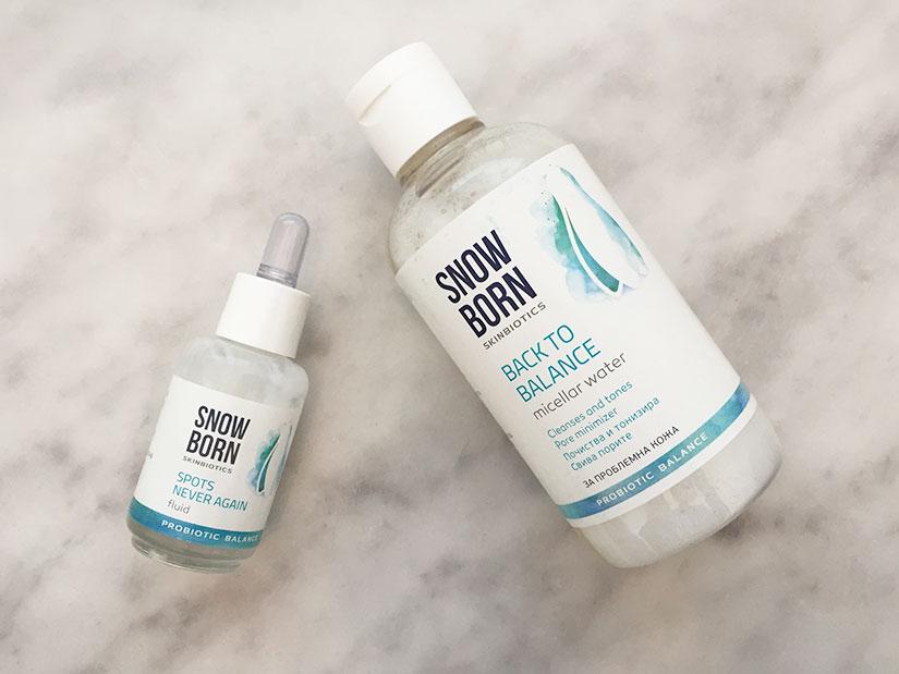 Snowborn мицеларна вода и активен флуид